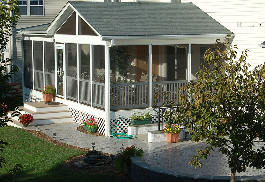 screened-in porch in Maryland