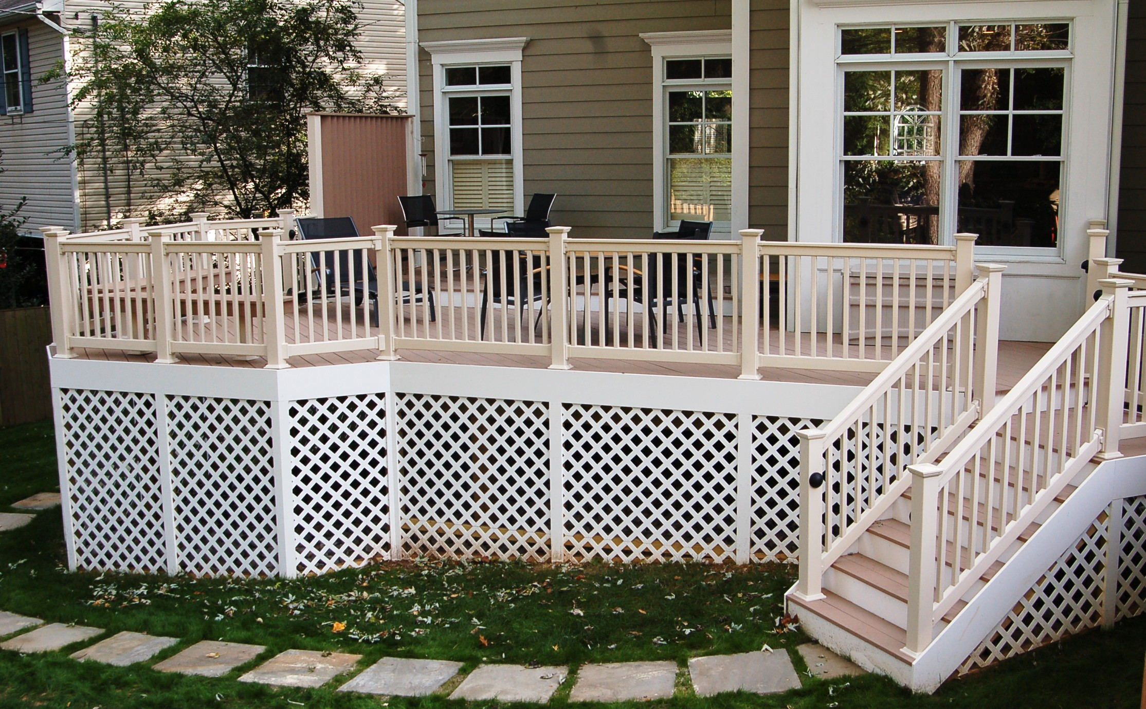 Pvc Deck Installation In Bethesda Maryland Using Azek