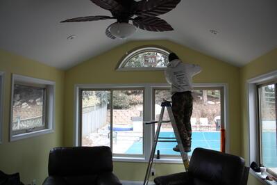 gabled roof sun room Fairfax Virginia