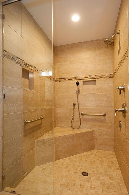 custom handicap bathroom in fairfax, virginia
