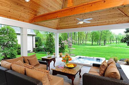 AZEK deck Rockville, Maryland Manor Country Club interior