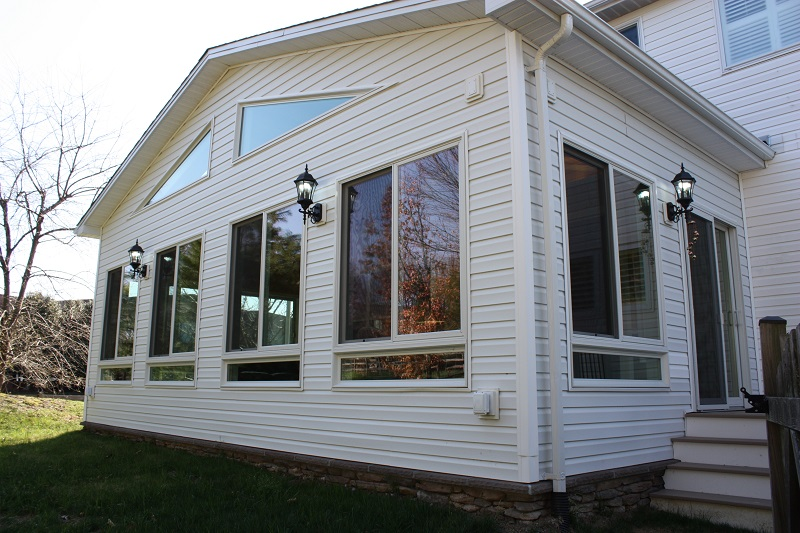 cool sun room addition exterior Montgomery County, MD