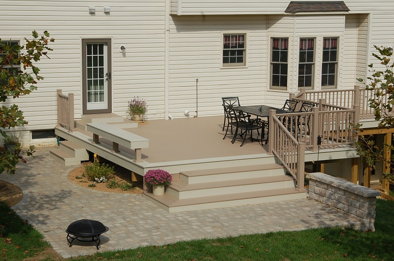 low-maintenance PVC deck in Montgomery County, MD