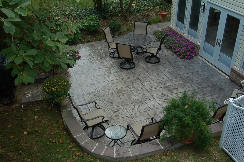 Dominican slate patio Montgomery County, MD