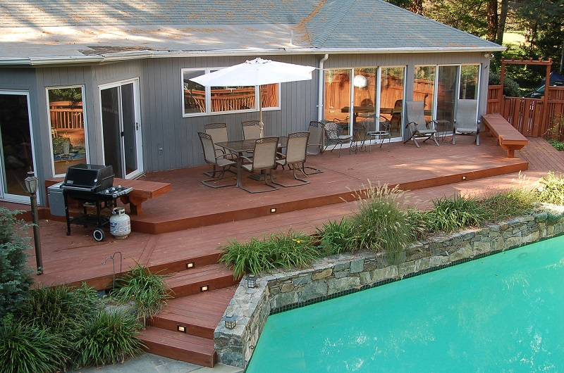 pressure treated pool deck in Silver Spring, MD