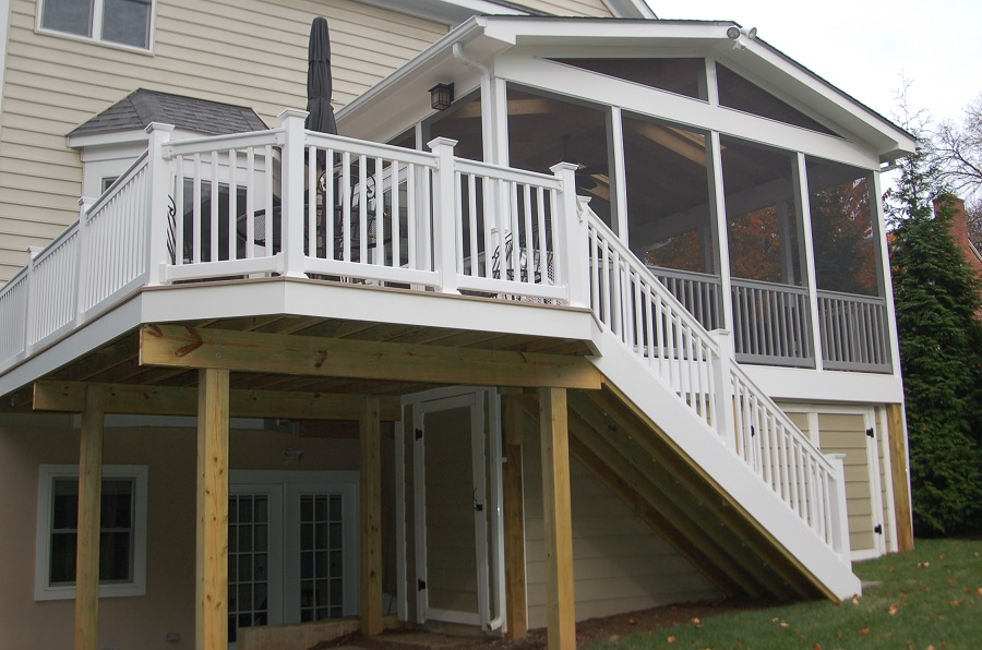 Low maintenance screen porch in bethesda and weatherproof Shed with screened porch