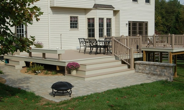 Azek brownstone pvc deck zoomed out