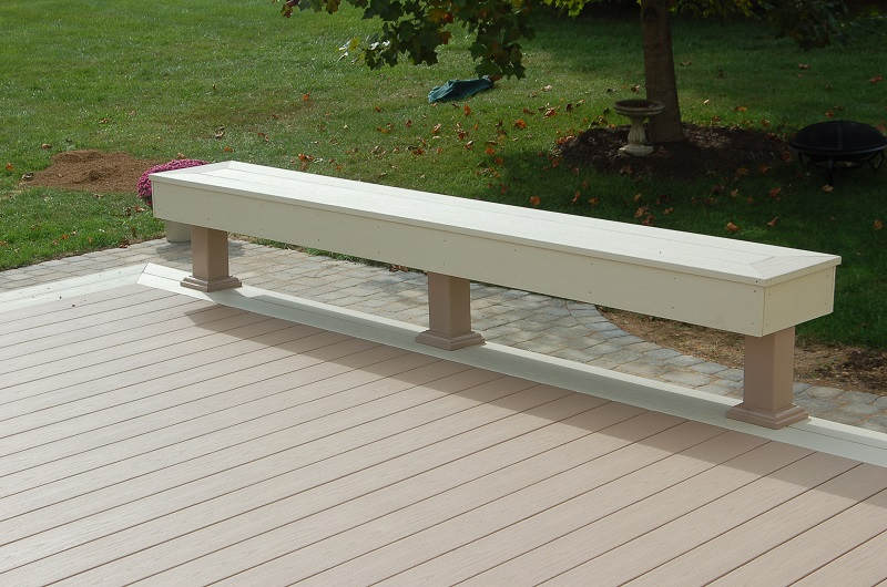 Azek PVC bench Montgomery County MD