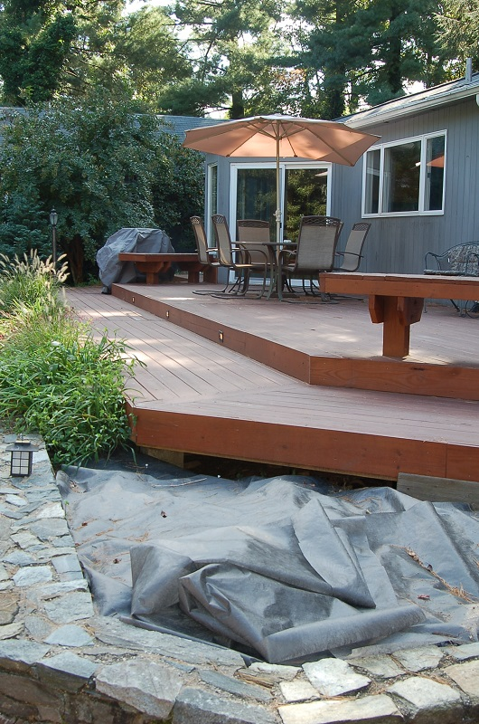 pressure-treated pool deck in Silver Spring, MD rocks