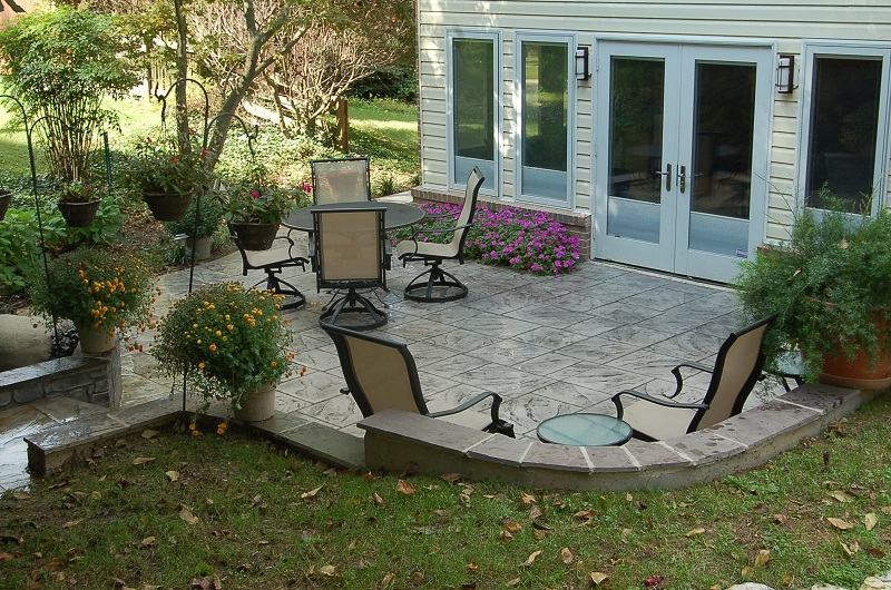 Dominican slate patio photo
