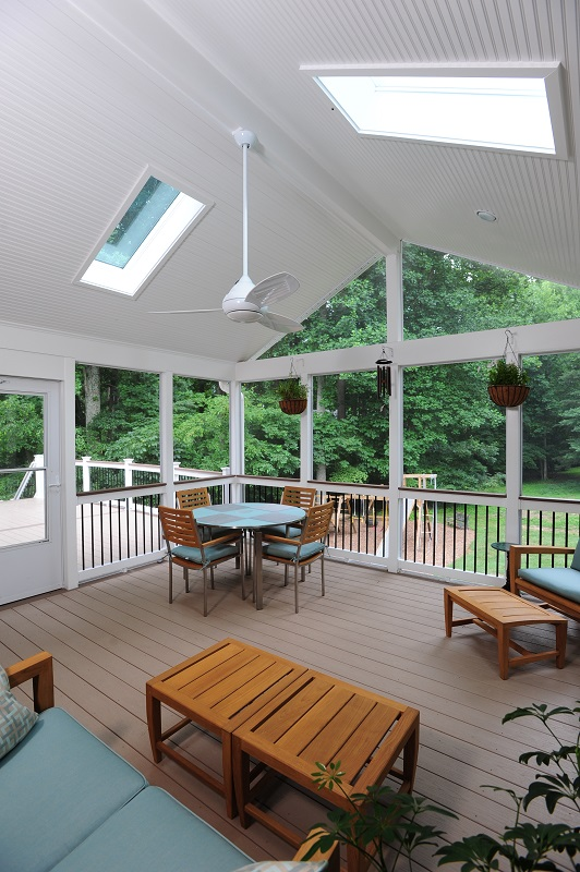Screen Room Contractor In Columbia Maryland With Azek Decking
