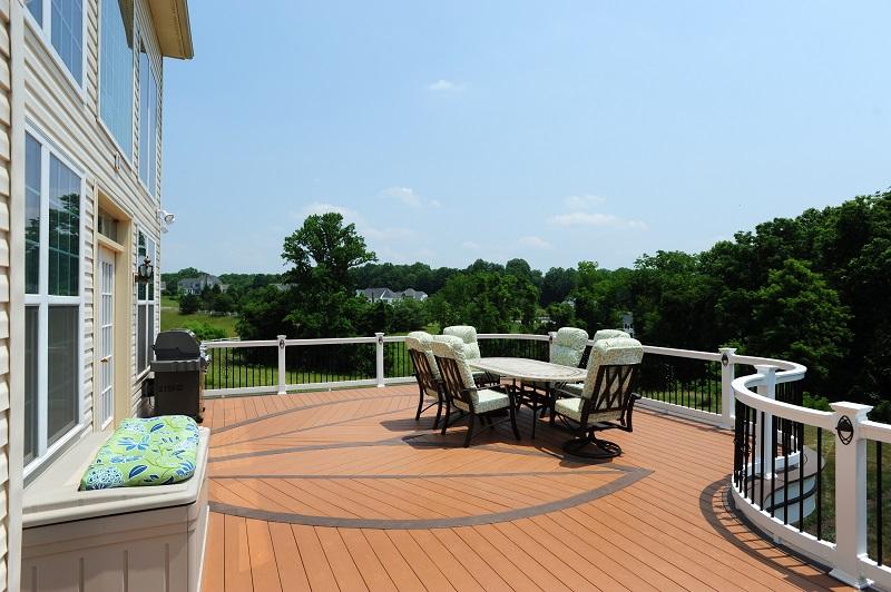 AZEK decking in Howard County, MD custom Azek curved deck piano deck