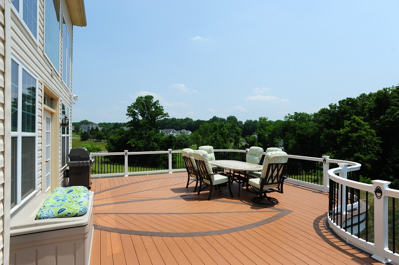 AZEK decking in Howard County, MD custom Azek curved deck piano deck