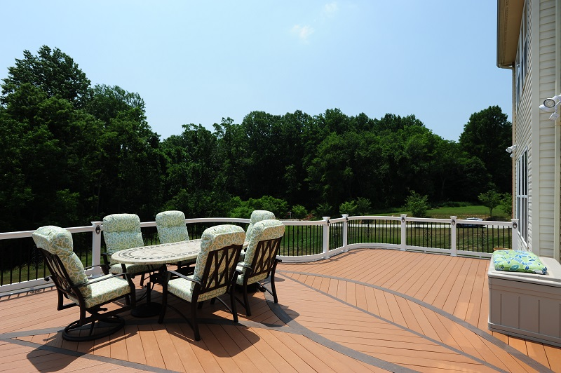 custom AZEK PVC deck inlay Fulton, MD