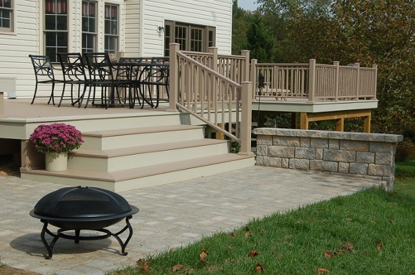 custom Azek brownstone deck Gaithersburg MD