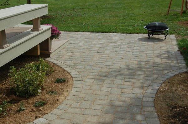 custom curved brick stone patio Montgomery County