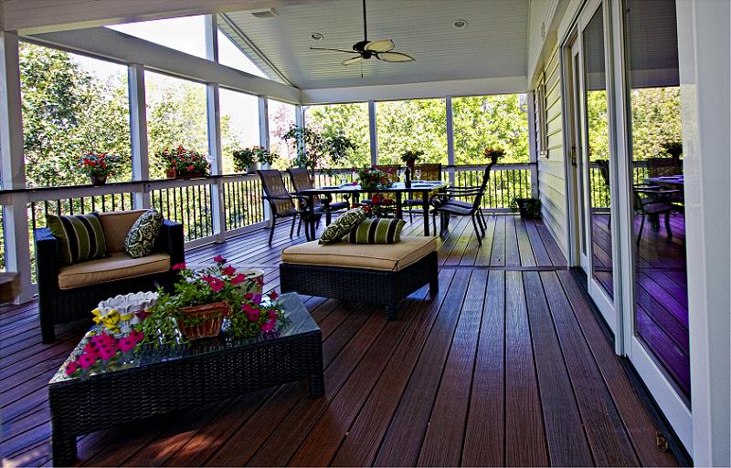 WOLF Fiberon screened porch in Gaithersburg, MD