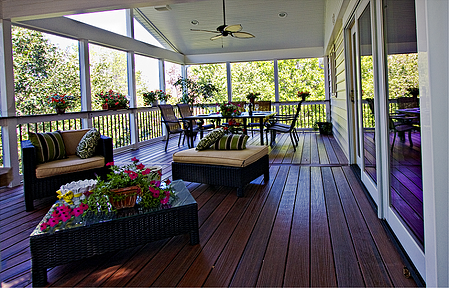 WOLF Fiberon screened porch in Gaithersburg, MD