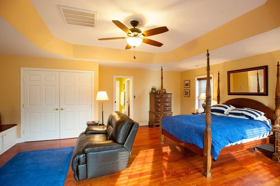 designer master bedroom addition tray ceiling Brazilian hardwood Fairfax VA