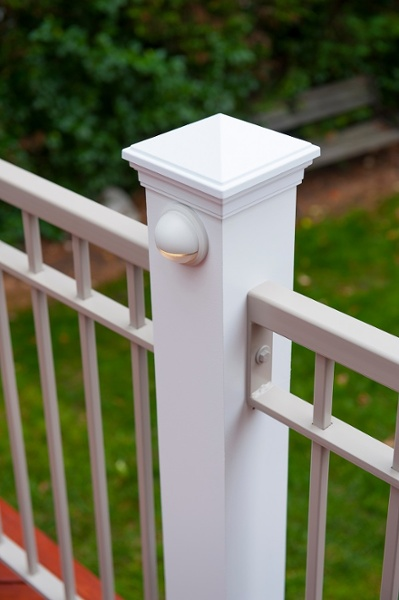custom deck column lighting Bethesda, Maryland