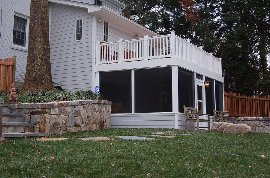 screen porch and patio in Chevy Chase, MD