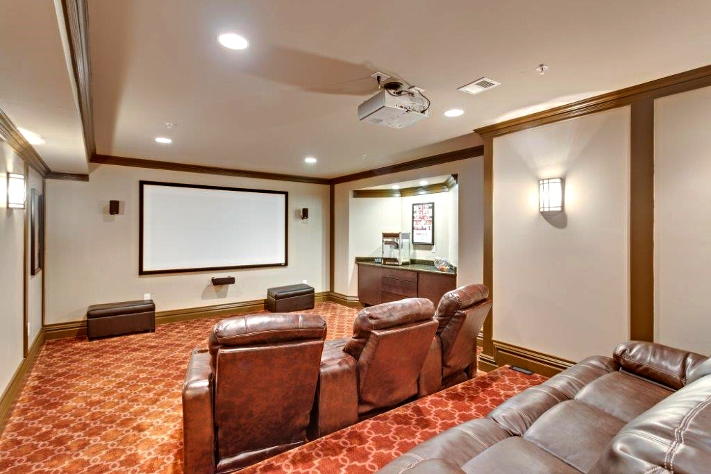 home theater Bethesda, Maryland leather recliners