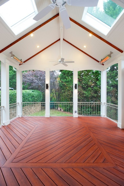 wide angle Brazilia Zuri decking skylights ceiling fans screen room