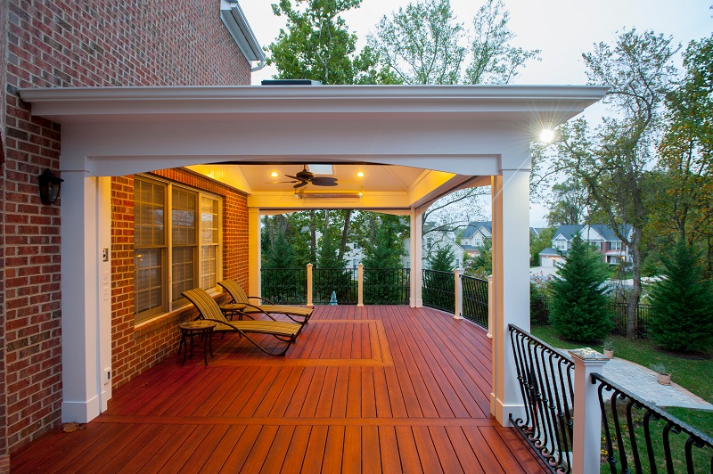 Zuri decking Bowie, Maryland high end retractable screen porch #thedress