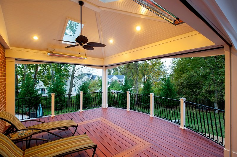 zuri deck with custom pattern in maryland