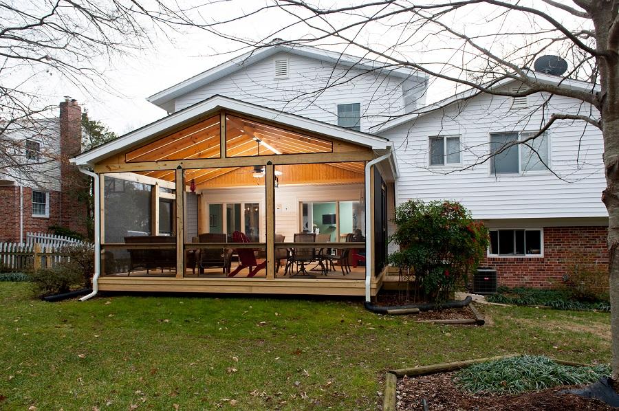 Professional Screen Porch Contractor In Fairfax Va With Screeneze