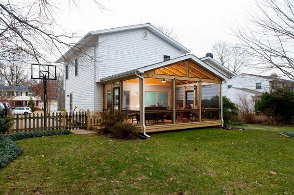 SCREENEZE screened porch addition Fairfax Maryland