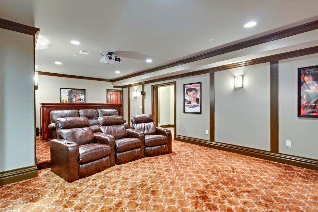 custom home theater remodel in Bethesda, MD