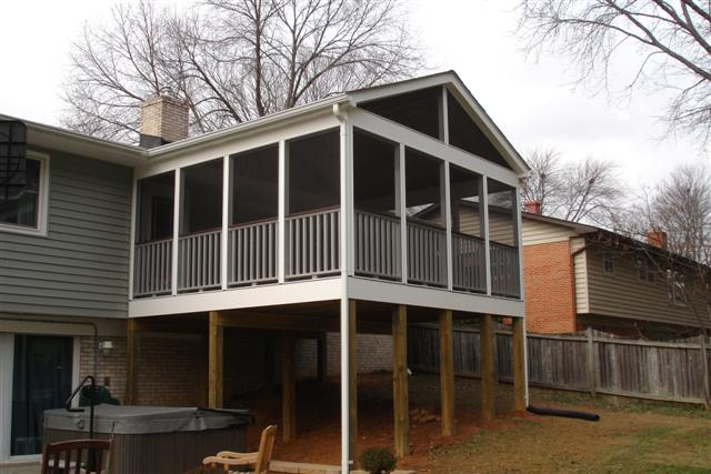 what is the cost of building a screen porch in northern virginia