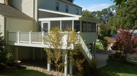 screeneze azek screened porch deck in Derwood, MD