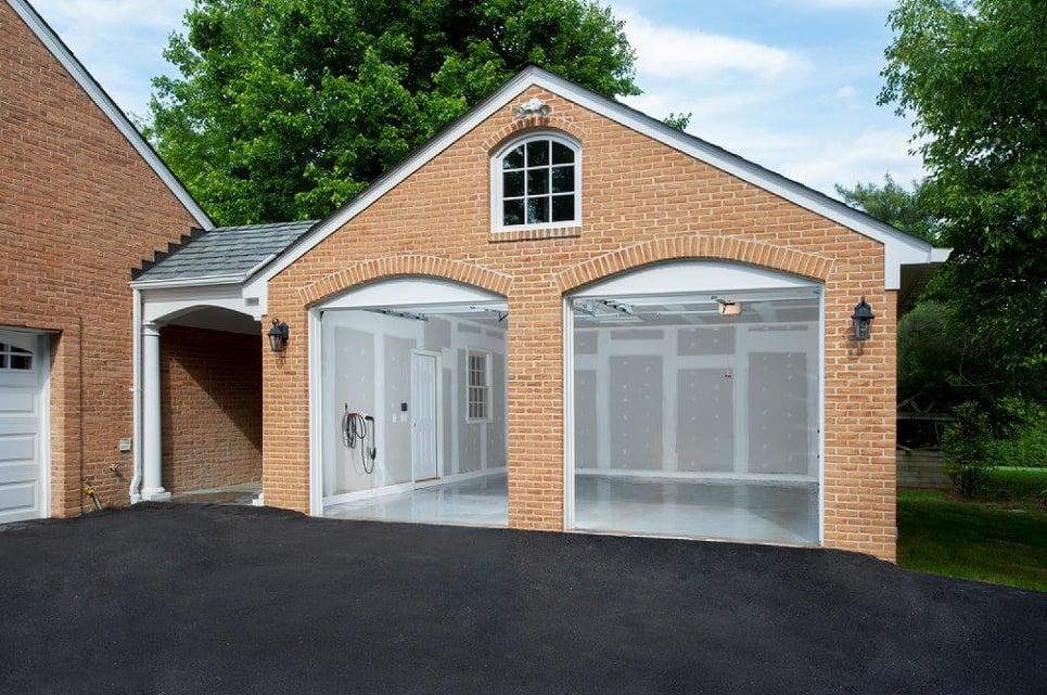 detached brick garage addition in bethesda, maryland