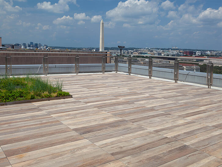 Porcelain Pavers Roof Deck in Washington DC