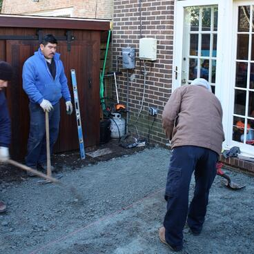 patio excavation in bethesda, maryland