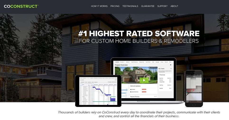 coconstruct website home page screengrab