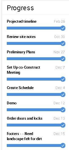 coconstruct schedule sharing deadlines