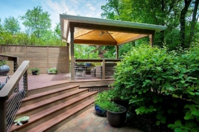 low-maintenance covered deck in Chevy Chase, Maryland