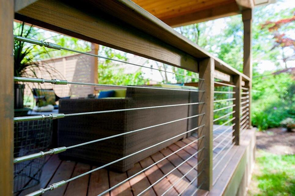 Amazing Vertical Wire Cable Railings Deck Photos - Electrical ...