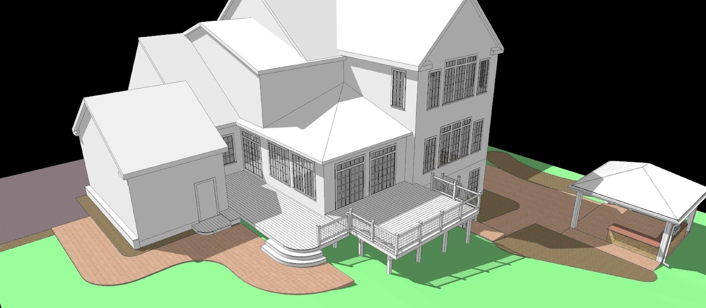 custom deck design rendering fulton maryland