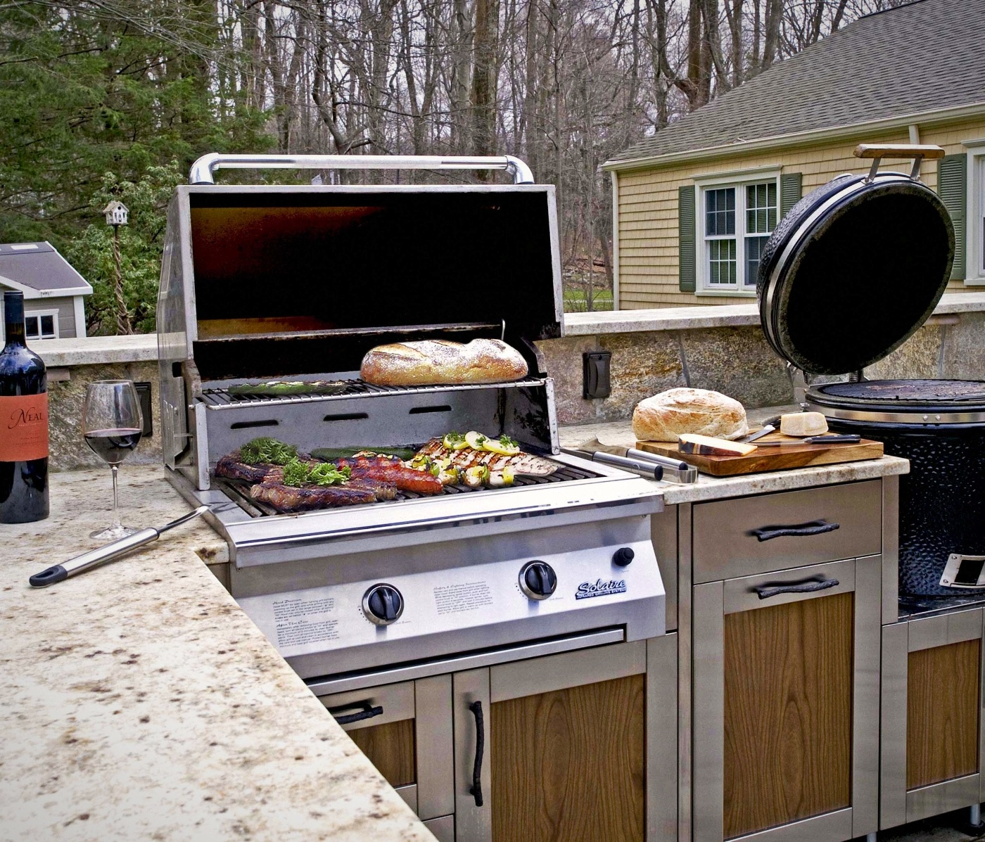 Danver Outdoor Kitchen Grill In Use