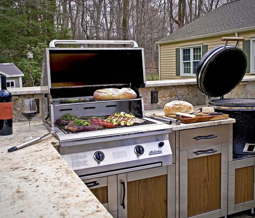 Danver outdoor kitchen grill in-use