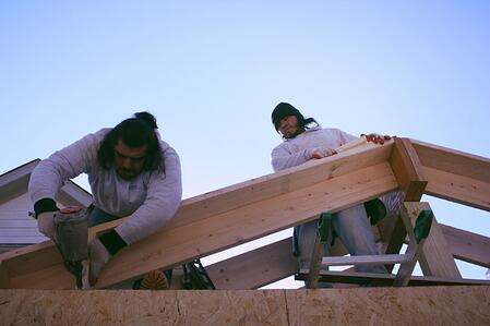 building a gable roof for a screen room