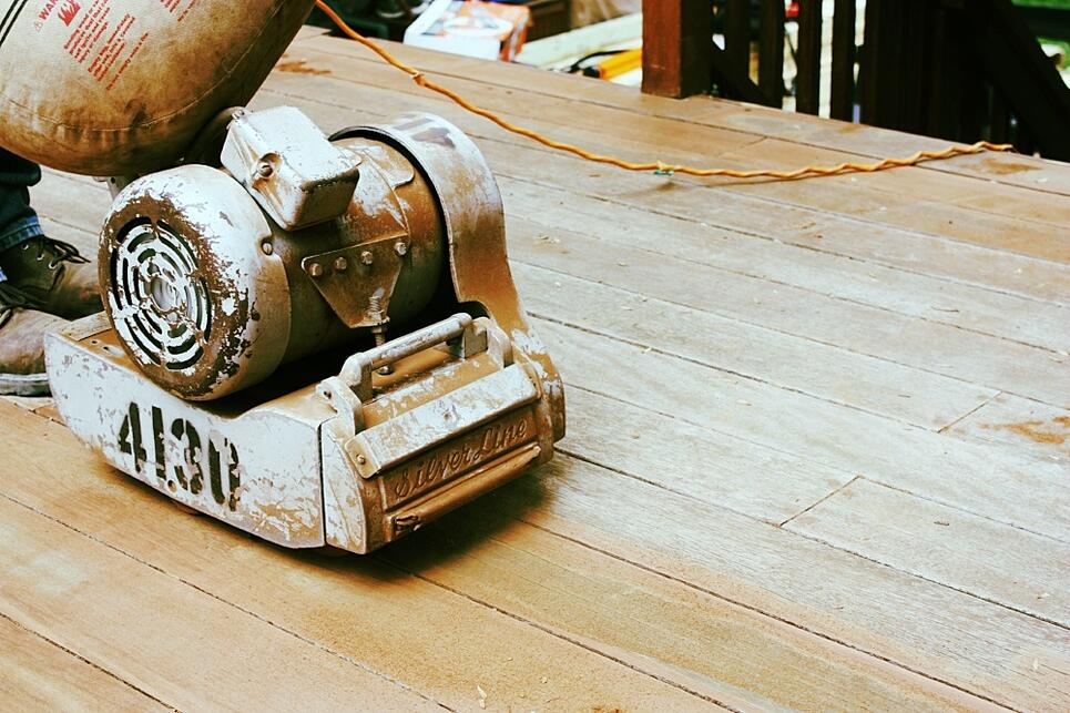 deck sanding in action in bethesda, maryland