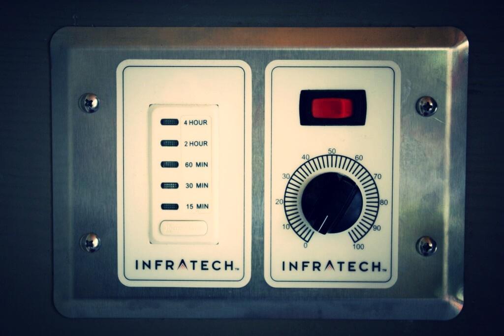 infratech outdoor heater adjustable controls panel