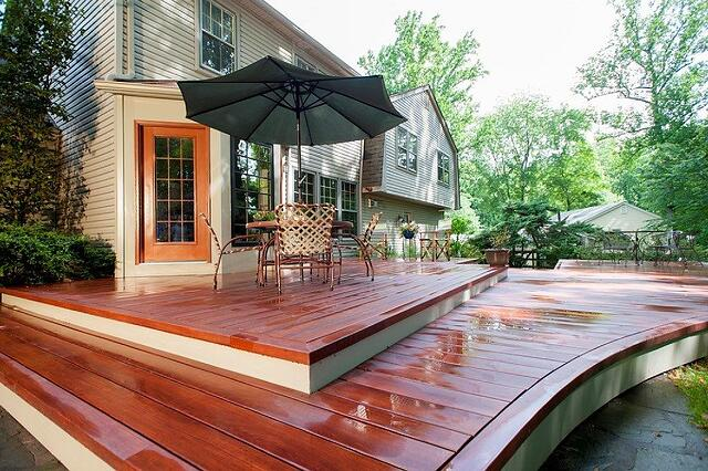 wet Zuri deck curvature bending Zuri Silver Spring, Maryland