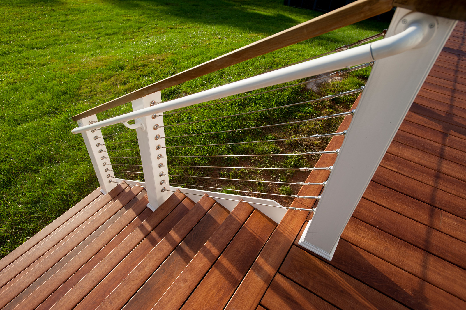 Image of: Steel Cable Deck Railings So Whats The Deal