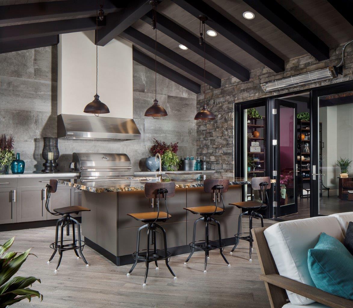 metallic matte dark patio with Danver stainless outdoor kitchen